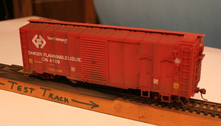 Cape breton central nova scotia railway 3716 is an n scale rs 18 from true line trains custom painted using badger paints and microscale decals